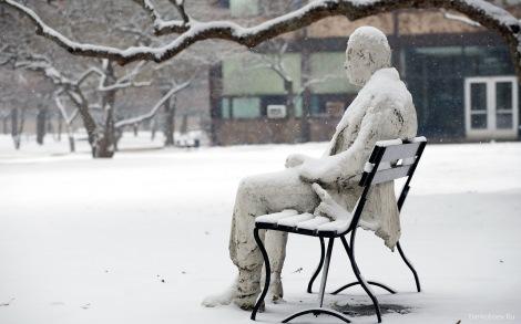 homme congelé